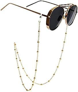 Mini Tree Eyeglass Chains for Women Beaded Reading Glasses Cords Sunglasses Holder Strap Lanyards Eyewear Retainer (gold)