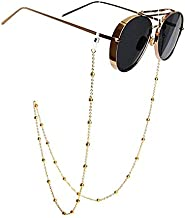 Mini Tree Eyeglass Chains for Women Beaded Reading Glasses Cords Sunglasses Holder Strap Lanyards Eyewear Retainer (gold)
