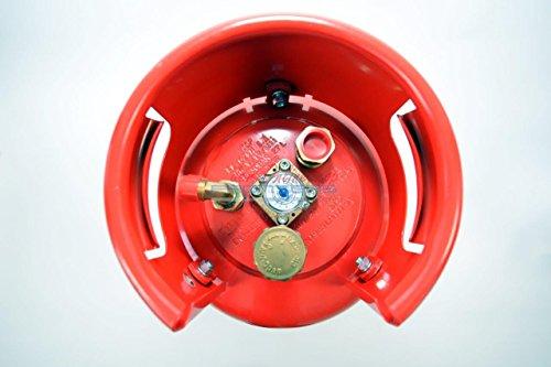 Wiederbefüllbare Tankflasche Stahl 4 Punkt Ventil 11 Kg 27 Liter Campingflasche Wiederbefüllbar inkl. Tankadapter Set