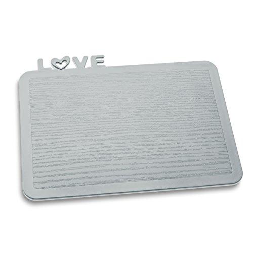 Koziol 3249632 Happy Boards Love Planche à Découper Plastique Gris 17,3 x 22,7 x 0,3 cm