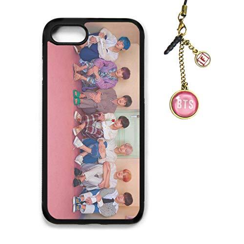 Fanstown Kpop BTS Bangtan Boys iPhone case MAP of The Soul : Persona + Album Logo Pendant (I17)