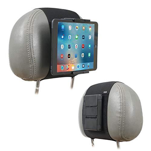 TFY Soporte para móviles y tablets, para reposacabezas de coche, compatible con dispositivos de pantalla de 5 a 10,5 pulgadas