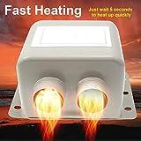 ALICED Elektrische Auto-Heizung, elektrische Auto-Entfroster-Heizung, 12 V, Geschwindigkeit, Hitzeschutz, 24 V, für LKW, Auto-Innenraumheizung bietet den Komfort für Reisen L 12V/800W