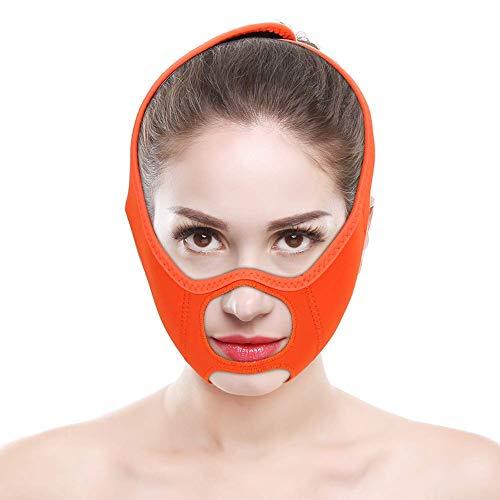SHDS Máscara de línea en V cinturón de Estiramiento Facial sin Dolor Reductor de mentón Doble Cinta reafirmante de Estiramiento Facial máscara de Cuello máscara Facial Adelgazante en Forma d