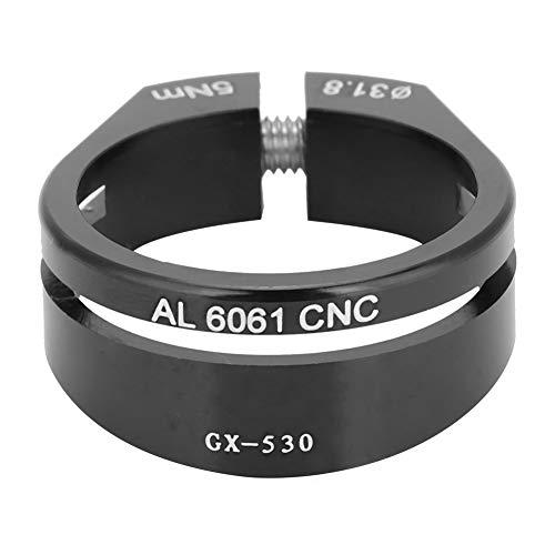 34.9mm Negro Tija De Sill/ín De Liberaci/ón R/ápida Abrazadera De Titanio Aleaci/ón De Aluminio Bici Bicicleta