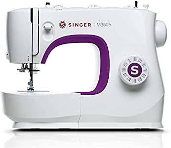 Singer M3505 - Máquina de Coser Portatil, Nuevo Modelo 2020, 34 Puntadas de Costura, útiles, elásticas, decorativas, Automática, Fácil de Usar