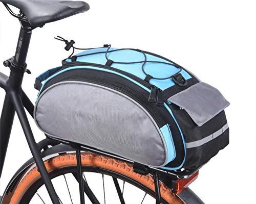 VERTAST Sacoche de Vélo, 13L Sacoche pour Arrière de Vélo Porte-Bagages, Sac de Rangement arrière de Transport Vélo du Siège Sac, Pochette Vélo VTT (avec Bandoulière), Bleu