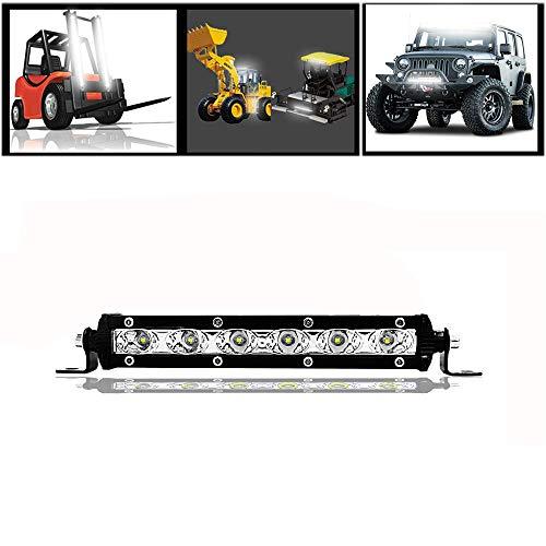 Ricoy Barra de luz LED de 7 pulgadas, 18W, luces de conducción todoterreno, focos LED, haz combinado