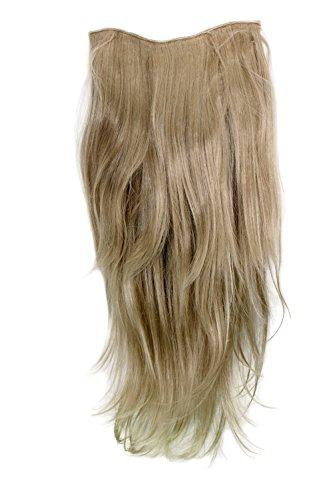 Extension à clipper composée de7 crochets, perruque 3/4, blond clair/blond cendré 60 cm H9505-24