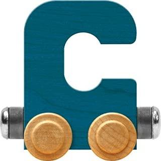 Maple Landmark NameTrain Bright Letter Car C - Made in USA (Blue)