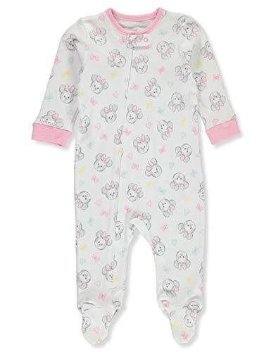 Disney Niñas Bebé Pies Dormir & Jugar - blanco - 0-3 meses