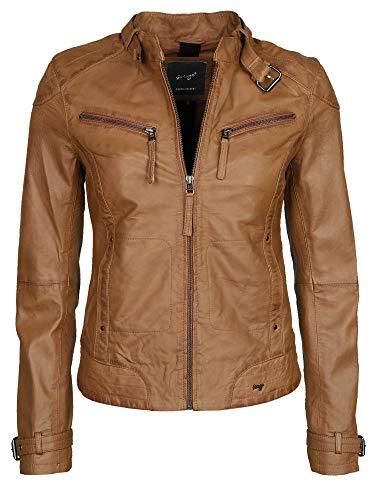 Maze Damen Lederjacke Mit Zwei Brusttaschen Ryana Cognac XL