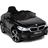 Dollys Shop Ride On Car - Licensed 12V Battery Powered Electric Kids Car - Ride On Toys with Parental Remote Control MP3 Music Plastic Wheels Lights Sound Buttons Black