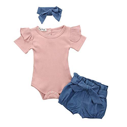 MRULIC Kleinkind Baby Jungen und Mädchen Insgesamt Langarm T-Shirt und Hose Trainingsanzug Bekleidungsset Outfits Schlafanzug mit Schmetterlingsdruck(Grün,80-90cm/M)