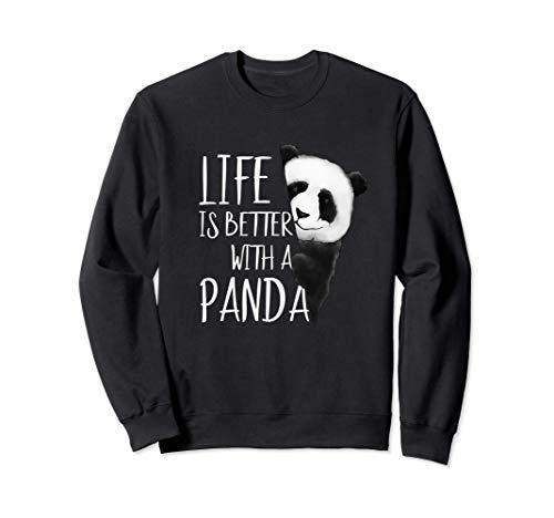 La vida es mejor con un oso panda Sudadera