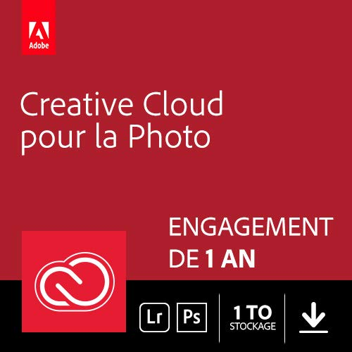 Adobe Creative Cloud Photographie 1 To: Photoshop + Lightroom | 1 an | PC/Mac | Téléchargement