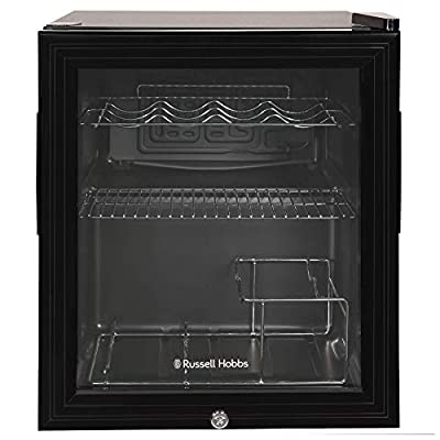 Russell Hobbs Table Top Wine & Drinks Cooler with Lock & Key, 12 bottle capacity, RHGWC1B-C-LCK, Black from Russell Hobbs