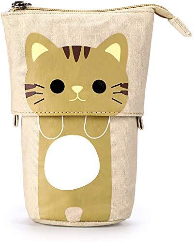 Nadoli - Astuccio telescopico multifunzione con design a forma di gatto, con cerniera, per...