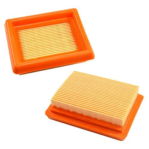 HQRP Paquet de 2 Élément de filtre à air compatible avec Husqvarna 521642101/521 64 21-01 pour Husqvarna 243R 243RJ 253R 253RB 253RJ 543RS 553RBX 553RS Coupe-bordure, Mètre du Soleil