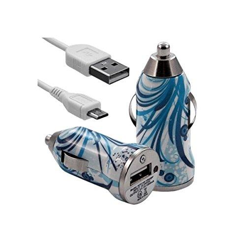Seluxion-Cargador de coche para Sony Xperia USB HF08 Z5 Premium