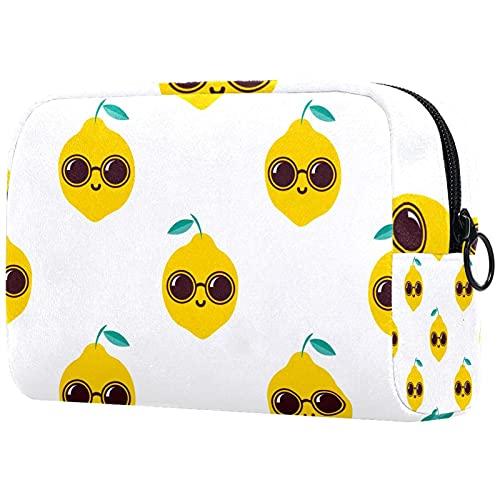Bolsas de cosméticos, bolsa de viaje con cremallera, neceser de sobrina o sobrino para tía en cumpleaños, día de la madre, Navidad, limón fresco con gafas de sol