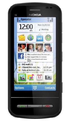 Nokia C6–00nero–Smartphone, SIM unica, Symbian OS, minisim, GPRS, hscsd, HSDPA, WCDMA, Control scorrevole)