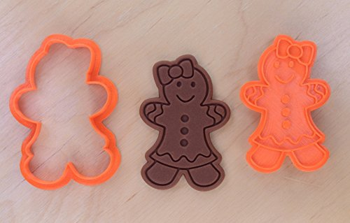 Gingerbread Girl Cookie Cutter and Stamp Set (2.9 x 4.3 inches)