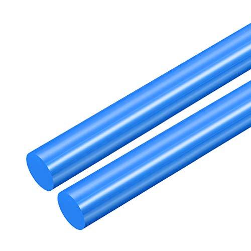 sourcing map 2 Stk. Plastik Rundstab POM Stange Rundstange Technisch Kunststoff 18mm D. Blau