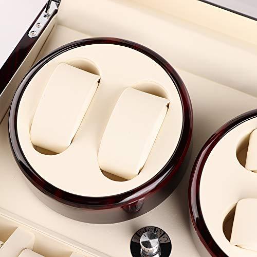 Ichiias Motor Shaker Watch Winder Holder Display 4 + 6 Caja de Reloj mecánico eléctrico automático 100-240V(EU)