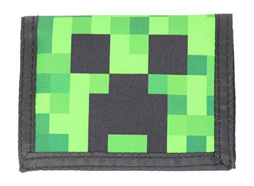 Minecraft Creeper Face Nylon Tri-Fold Wallet Multi-Colored Licensed