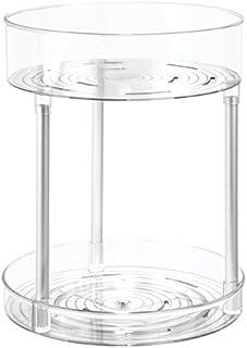 iDesign 22270 Metro Ultra Plastic Two-Tier Bath Storage Spinner and Rotating Organizer for Bathroom Vanity, Dresser, Desk,...