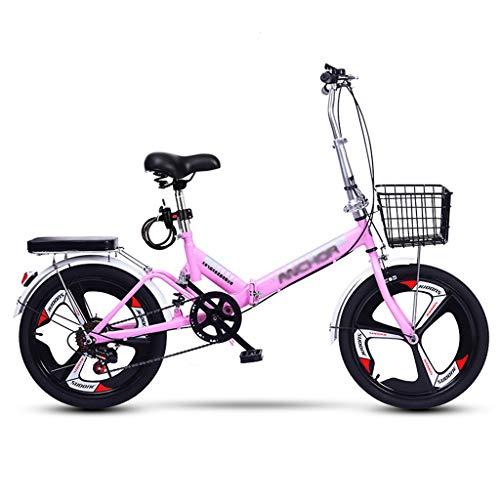 ZDXC Klappbares Mini-Bike, 20-Zoll-Räder, Fahrrad mit Variabler Geschwindigkeit, Verstellbare Sitzradfahrräder, Leichtes Fahrrad für Erwachsene
