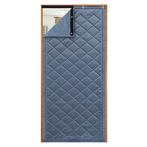 Winter Thicken Cotton Door Curtain, Windproof Soundproof Keep Warm Curtain for Dorm Bedroom, Waterproof Oxford Cloth, Lining Silk Cotton, Customizable