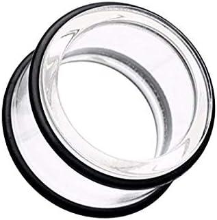 Covet Jewelry Basic Acrylic No Flare Ear Gauge Tunnel Plug