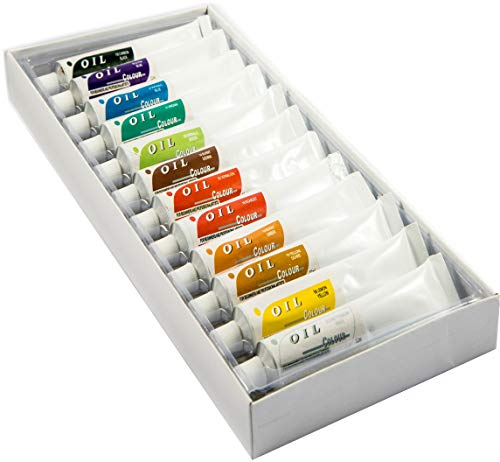 Daveliou Oil Paints Set – 32ml x 12 Color Paint Tubes – Painting Kit for Beginners Students and Artists