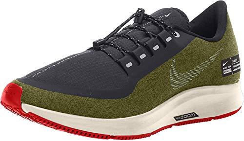 Nike Air Zm Pegasus 35 Shield, Zapatillas de Entrenamiento para Hombre, Multicolor (Olive Flak/Metallic Silver/Black/String 300), 47.5 EU
