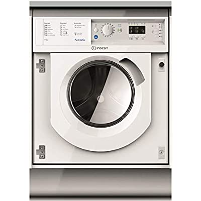 INDESIT BIWDIL7125 7kg Wash 5kg Dry 1200rpm Integrated Washer Dryer With Push&Go - White