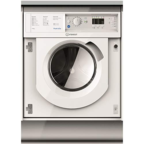 Indesit BIWDIL7125 7kg Wash 5kg Dry 1200rpm Integrated Washer Dryer - White