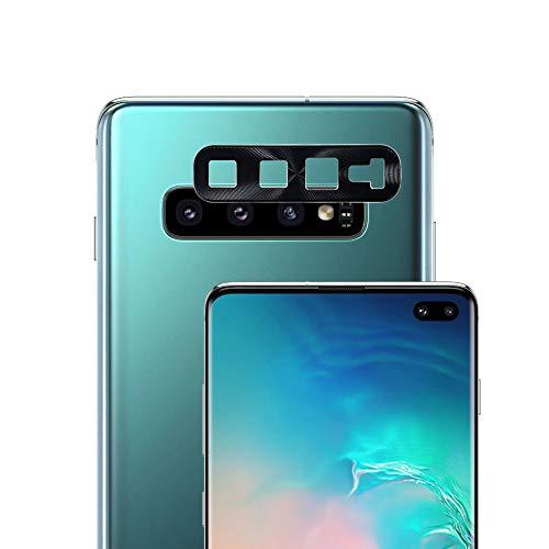 G-Color Protector Cámara/Cámara Trasera Lente Galaxy S10/S10+/S10 Plus, [1 Unidad], [Alta definición] [9H de Dureza] Cámara Trasera Lente de Metal (Negro) para Samsung Galaxy S10/S10+/S10 Plus