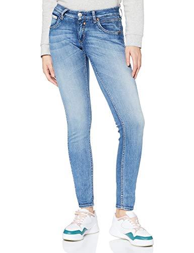 Herrlicher Damen Touch Slim Organic Denim Jeans, Faded Blue 666, W26/L30