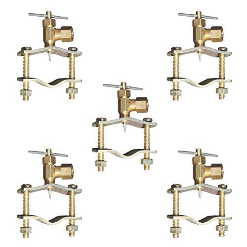 Raven Self Piercing 1/4-Inch Compression Outlet Brass Saddle Needle Valve (5 Pack)