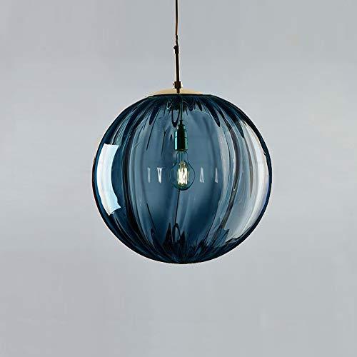 Crayom Luces colgantes, lámpara de araña Bola de vidrio Lámpara de techo Lámpara de techo Luz interior Moderno de cobre Color Shade Suspension Iluminación Restaurante Lámpara de luz para sala de estar