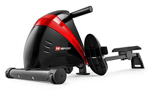 Hop-Sport Rudergerät Boost Ruderzugmaschine mit Computer & Magnetbremssystem rot