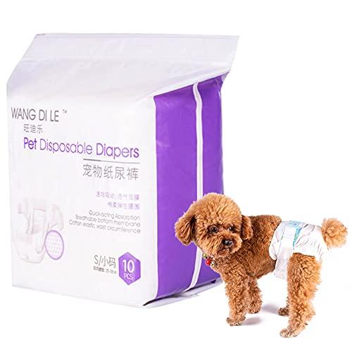HXX Pañales para perro hembra desechables, absorbentes pantalones cortos para perro incontinente, cómodos pañales para cachorros pequeños y medianos