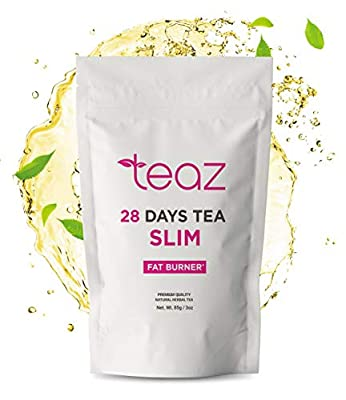 TEAZ SLIM-28 Days F-Burn Tea   for Women & Men   Traditional Active Herbal Complex   85g-3oz Loose Leaf   Without Additives   100% Natural Dietary Supplement   Vegan & Gluten-Free from Teaztea
