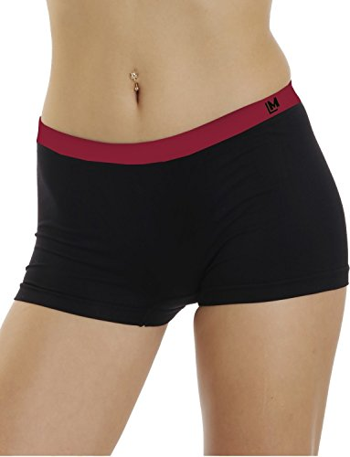 LisaModa Damen Panty 4er Pack Seamless Stretch Schwarz XL 48-50