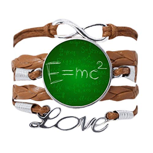 DIYthinker Relativity Physical Science Formula Calculus Bracelet Love Chain Rope Ornament Wristband Gift