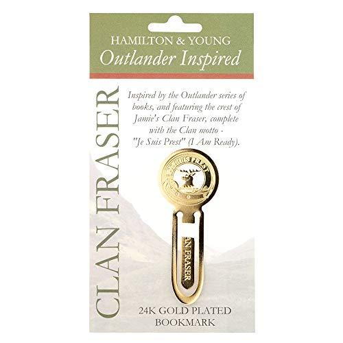 Je Suis Prest - vergoldetes Clan Fraser Outlander Lesezeichen aus Schottland