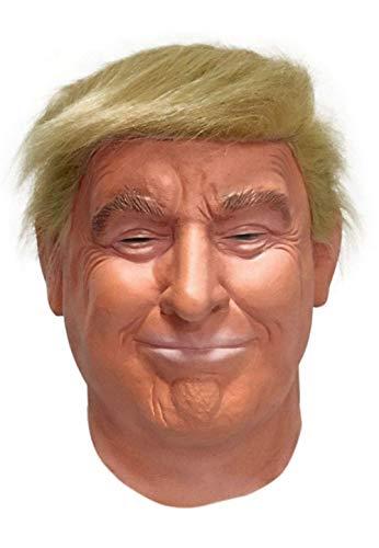 LEKA NEIL Realistische Promi-Maske, Republikanische Präsidentschaftskandidatenmaske, Donald Trump-Maske, Latex, voller Kopf, Erwachsenengröße (orange)