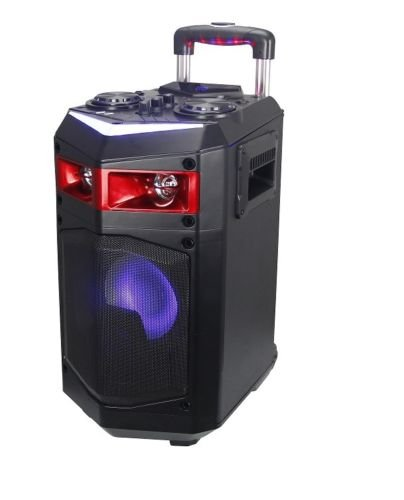 Altavoz Trolley con Ruedas PORTATIL Altavoces USB Bluetooth Karaoke LED 60W